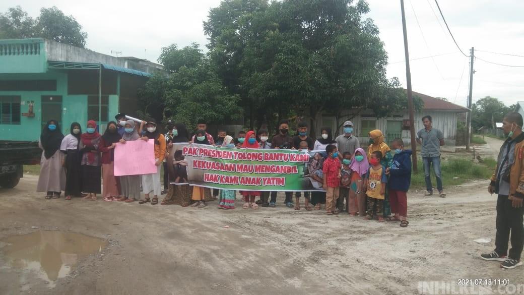 13 Tahun Sewa Tanah Wakaf Tak Dibayar, Pengurus dan Anak Panti Asuhan Gelar Aksi