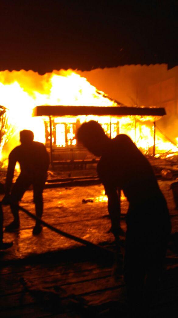 5 Unit Rumah di Inhil Ludes Terbakar