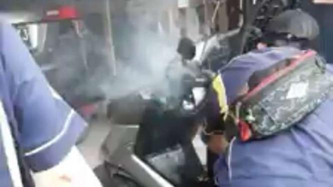 Video Viral: Yamaha NMAX Nyaris Terbakar