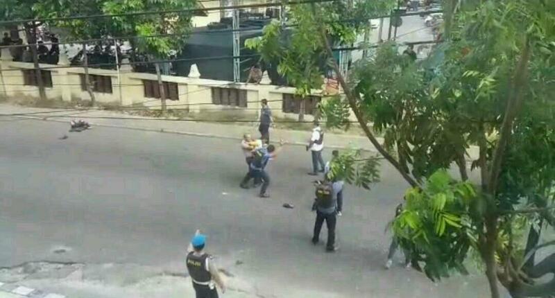 Polisi Amankan 1 Orang Pria di Samping Polresta Pekanbaru