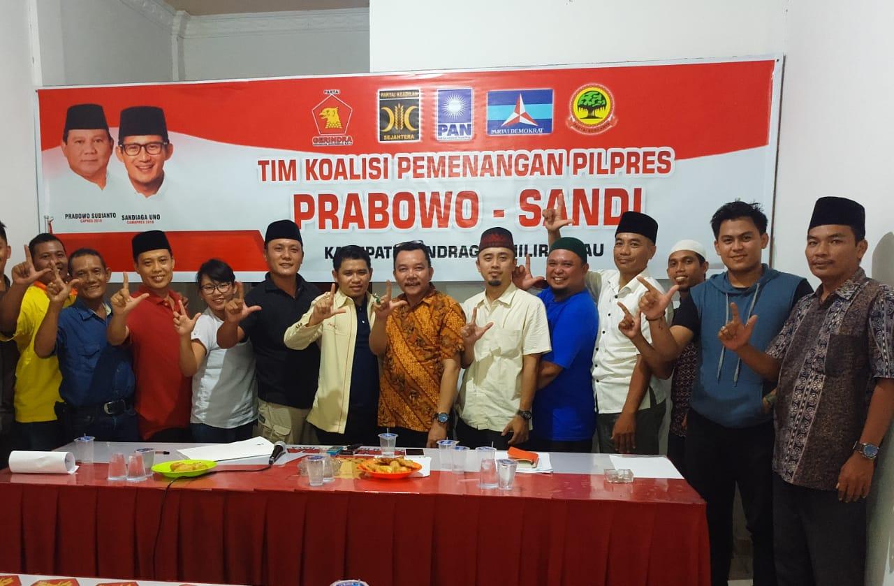 Prabowo-Sandi Salaudin Uno Dijadwalkan akan Kampanye di Inhil