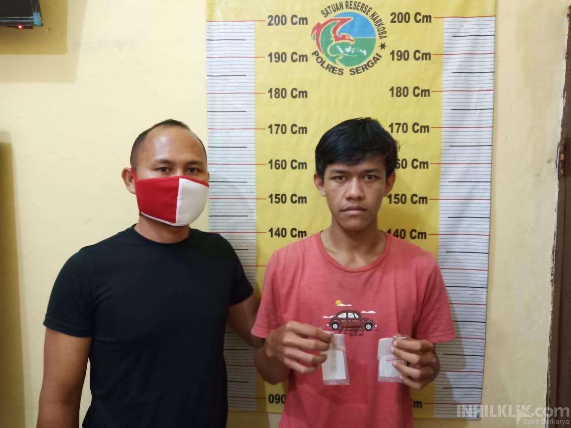 Pemuda Pengganguran Edarkan Sabu Diringkus Satnarkoba Polres Sergai