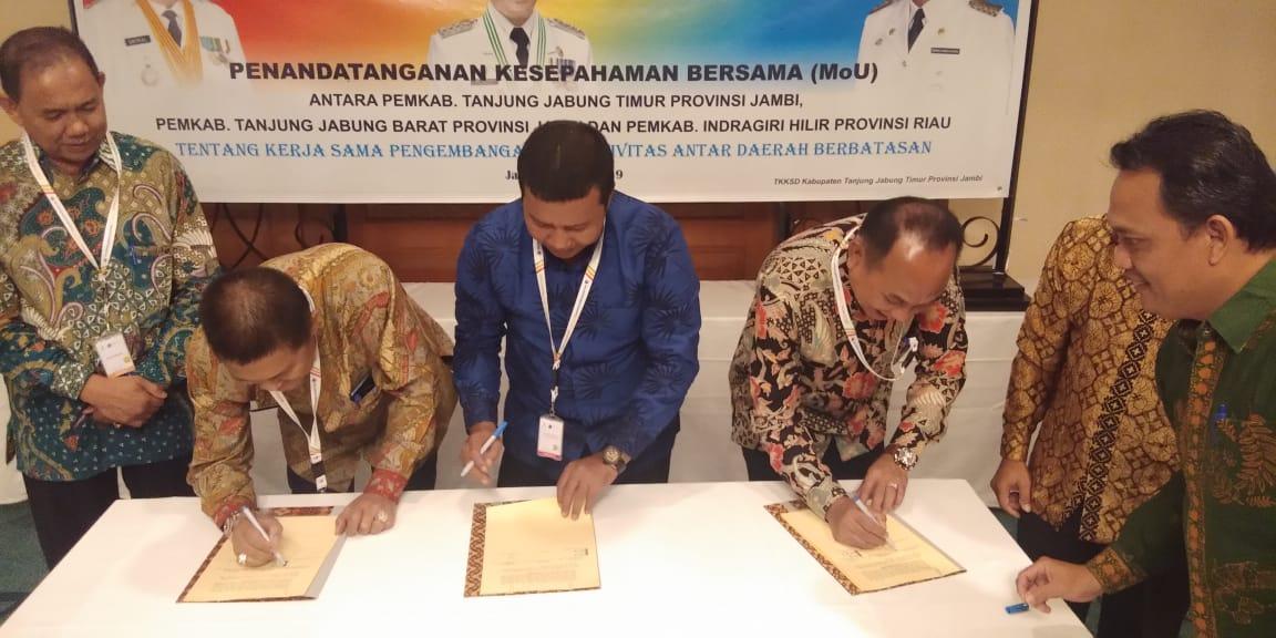 Pemkab Inhil Jalin Kerjasama dengan Pemkab Tanjab Barat dan Tanjab Timur