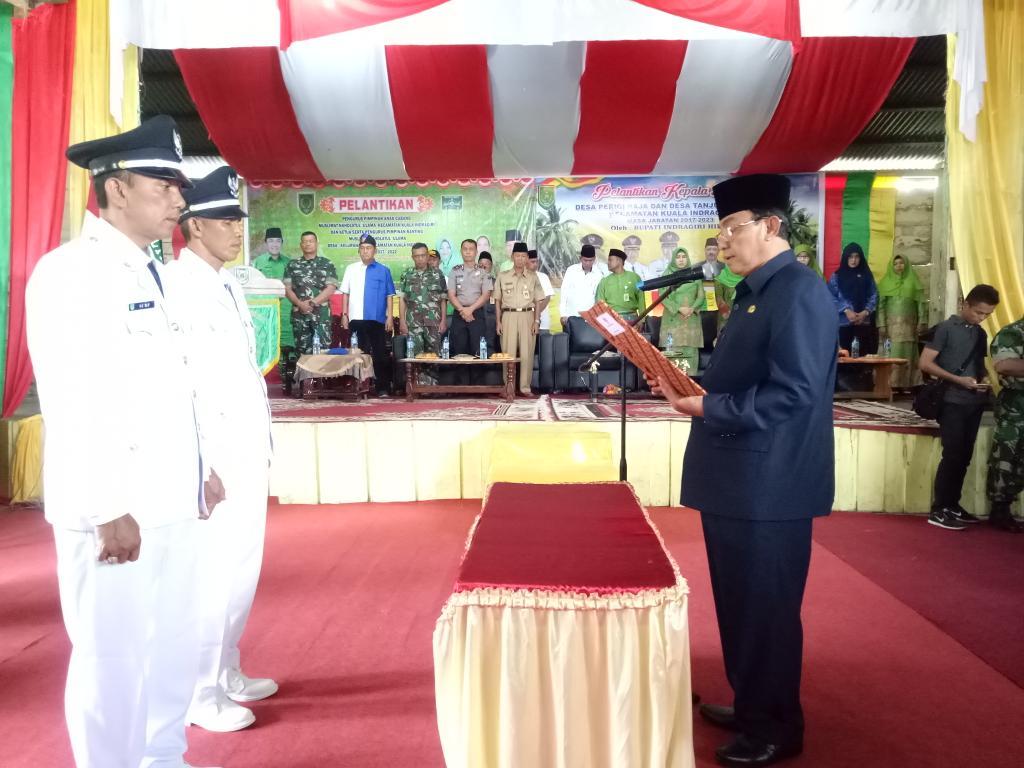 Pelantikan Kades Perigi Raja dan Kades Tanjung Melayu