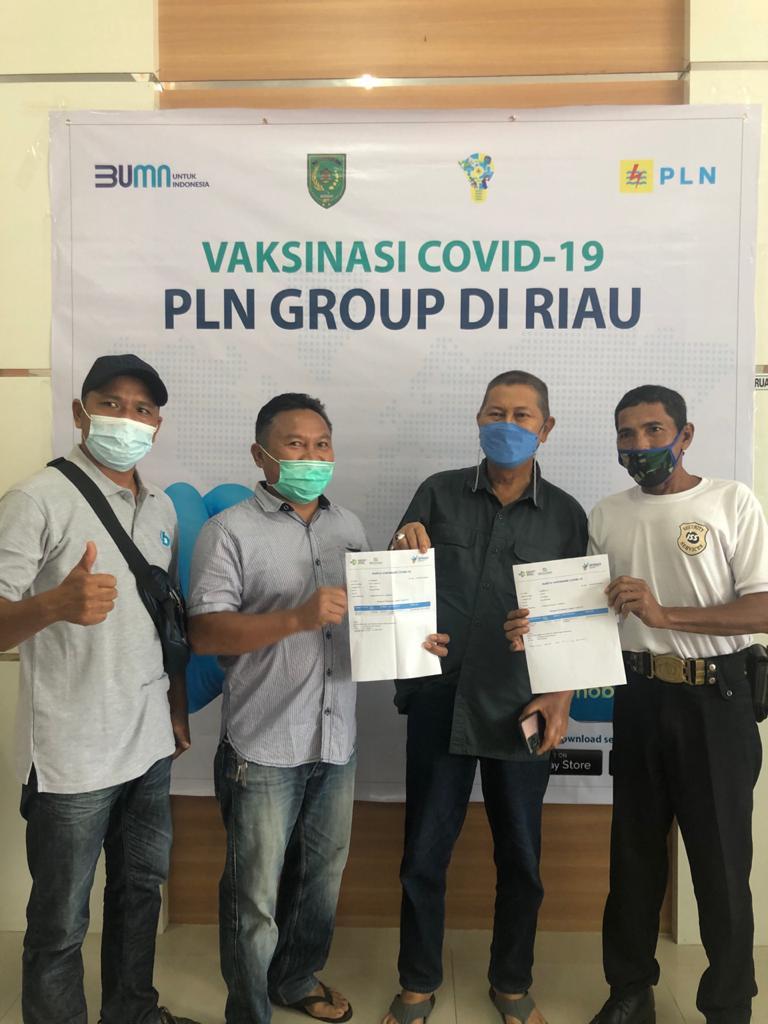 PLN ULP Tembilahan Vaksinasi Pegawai dan Mitra