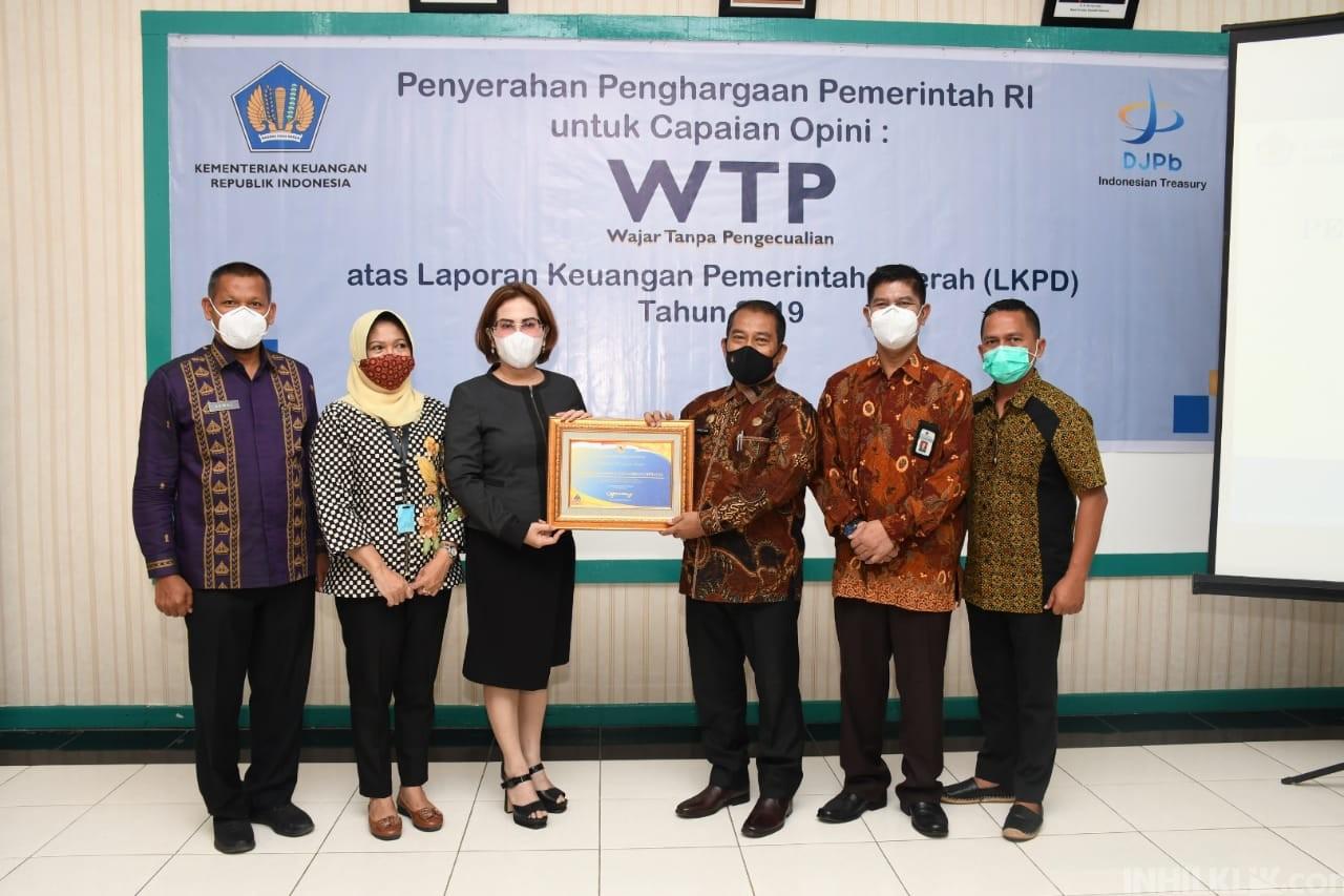 Pemkab Sergai Terima Penghargaan Opini WTP dari Kementerian Keuangan RI