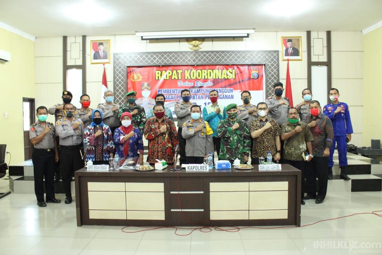 Kapolres Sergai Pimpin Rapat Kesiapan Kampung Tangguh Dalam Menyongsong New Normal