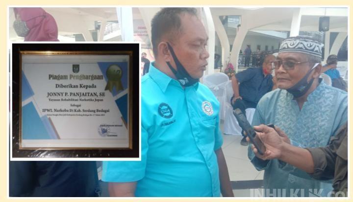 Yayasan Rehabilitasi Narkotika JOPAN Terima Penghargaan Saat Hari Jadi Sergai ke-17