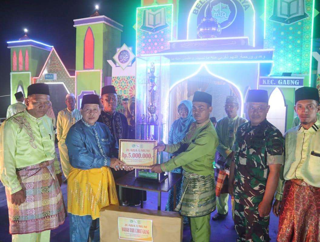 Camat Tutup MTQ Tingkat Kecamatan, Desa Belantaraya Juara Umum