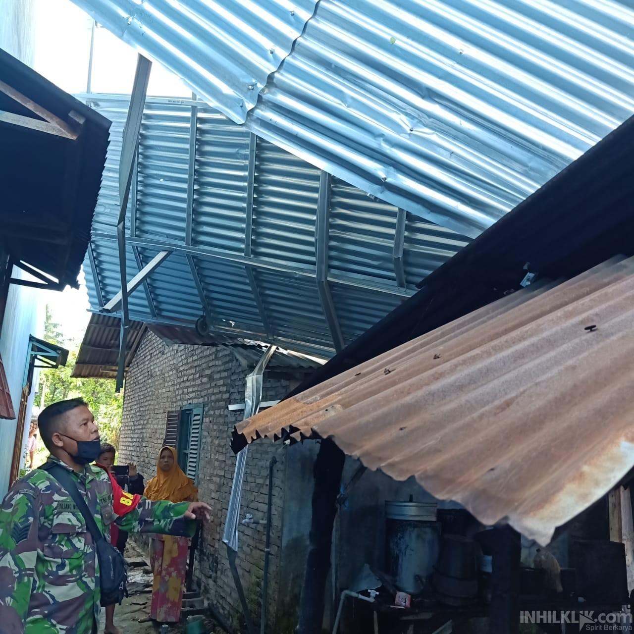 Dilanda Angin Puting Beliung, 11 Rumah di Sei Bamban Alami Kerusakan