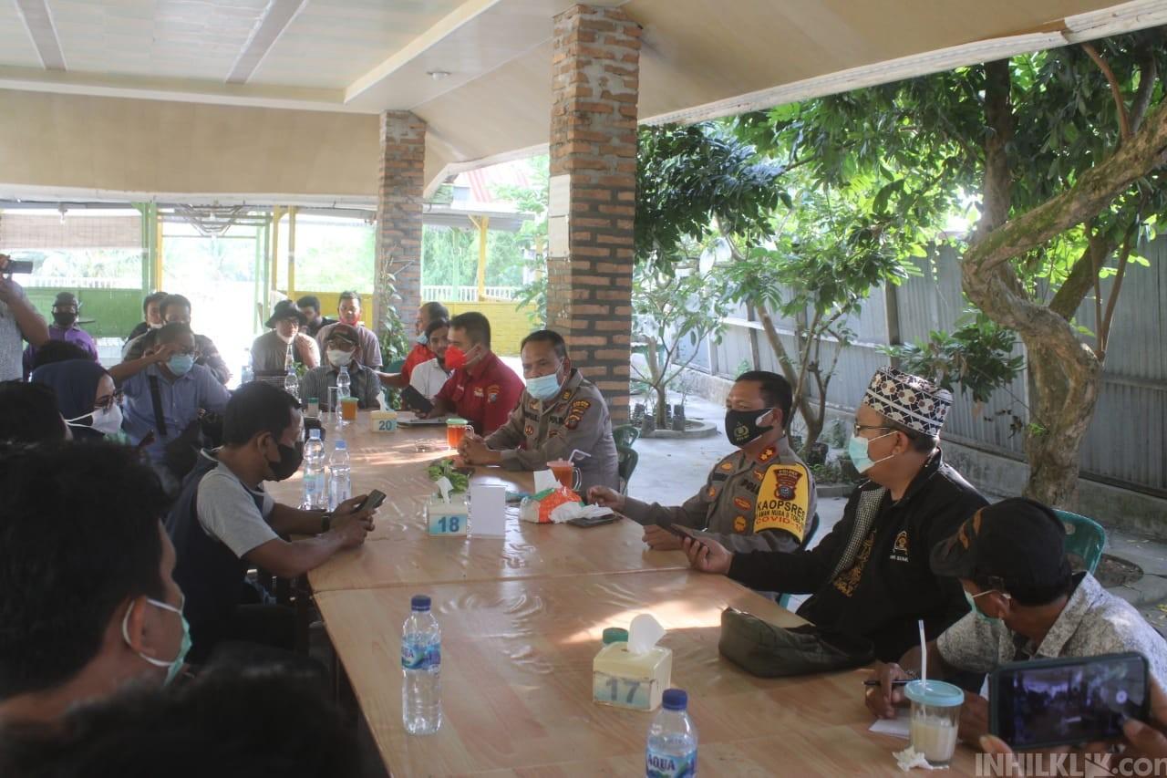 Kapolres Sergai AKBP Robin Simatupang Jalin Silaturahmi dengan Wartawan