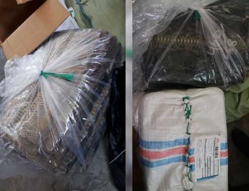 Astaga! Pada Paket Ditulis Berisi Kain, Setelah dicek Keamanan Bandara SSK II Pekanbaru Ternyata Ditemukan 31,3 Kilogram...