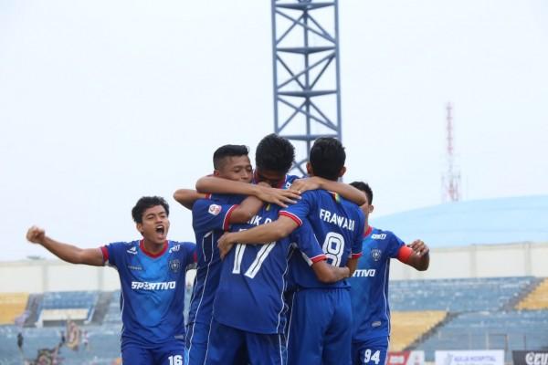 Gol Tunggal Riki Dwi Saputro Bawa PSPS Riau Kalahkan Blitar Bandung United