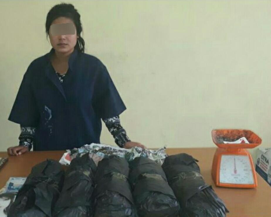 Miliki 2,5 Kg Ganja, Wanita 20 Tahun di Inhil Diringkus Polisi