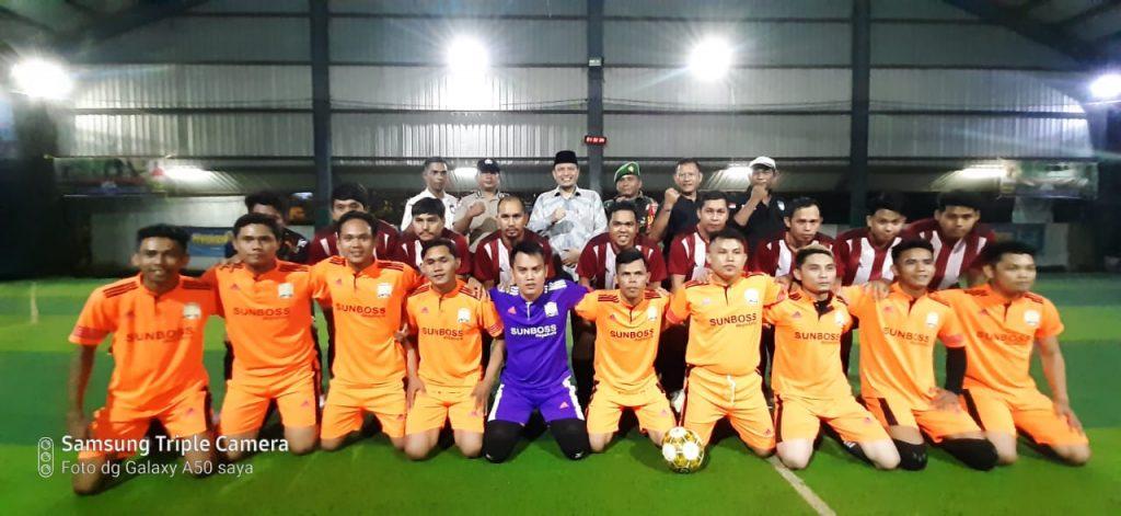 Anggota DPD Ria Saptarika Buka Tournament Inhil Futsal Competition 2020