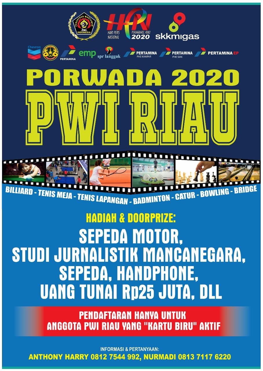 28 Februari, PWI Riau Gelar Porwada