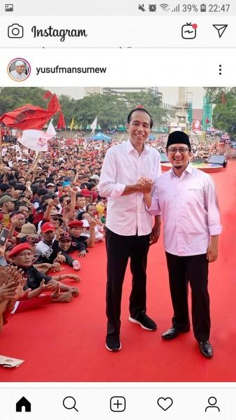 Dukung Jokowi, Ustaz Yusuf Mansur: Saya 01, Tetap Mendoakan 02