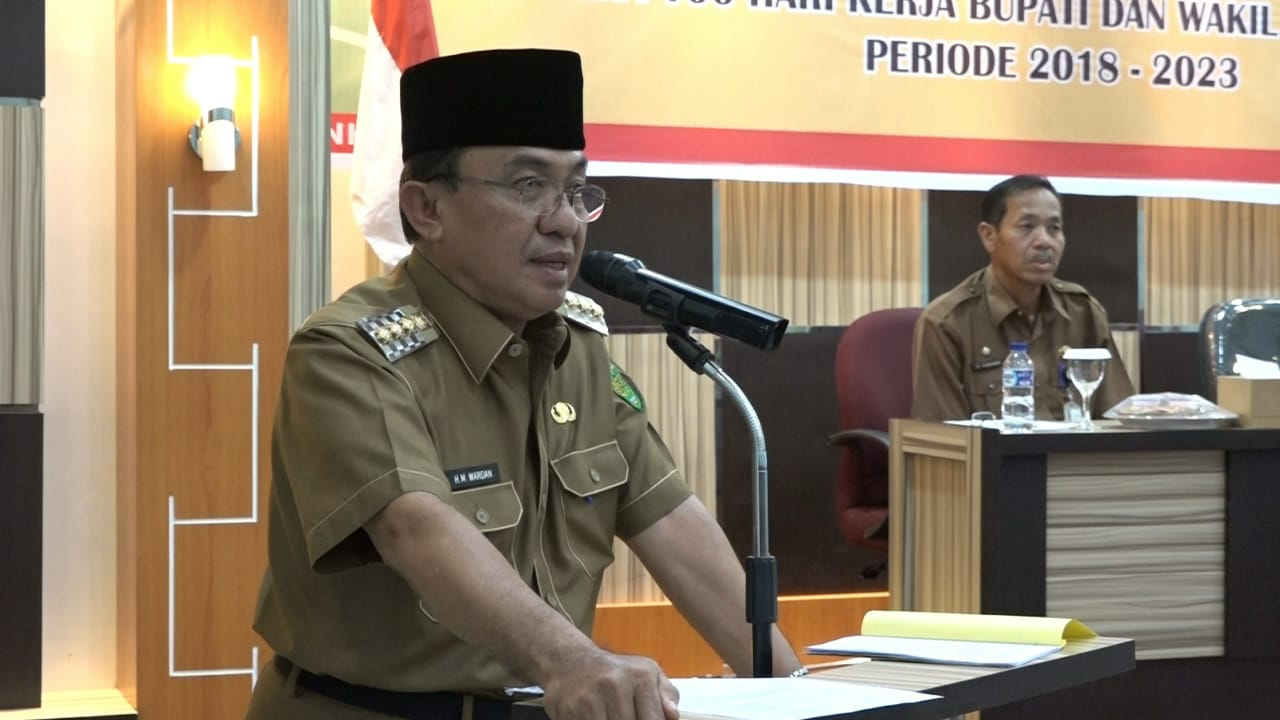 Bupati Kabupaten Inhil, HM Wardan Pimpin Rapat Rakor PKH Tahap I