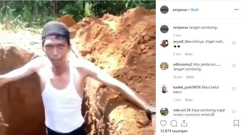 Pesan Penggali Kubur dari Liang Lahat, Viral!