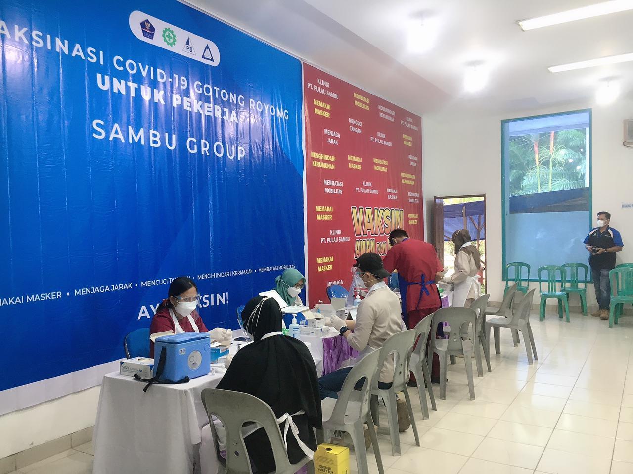 Serbuan Vaksin Gotong Royong dari Sambu Group untuk Pekerja