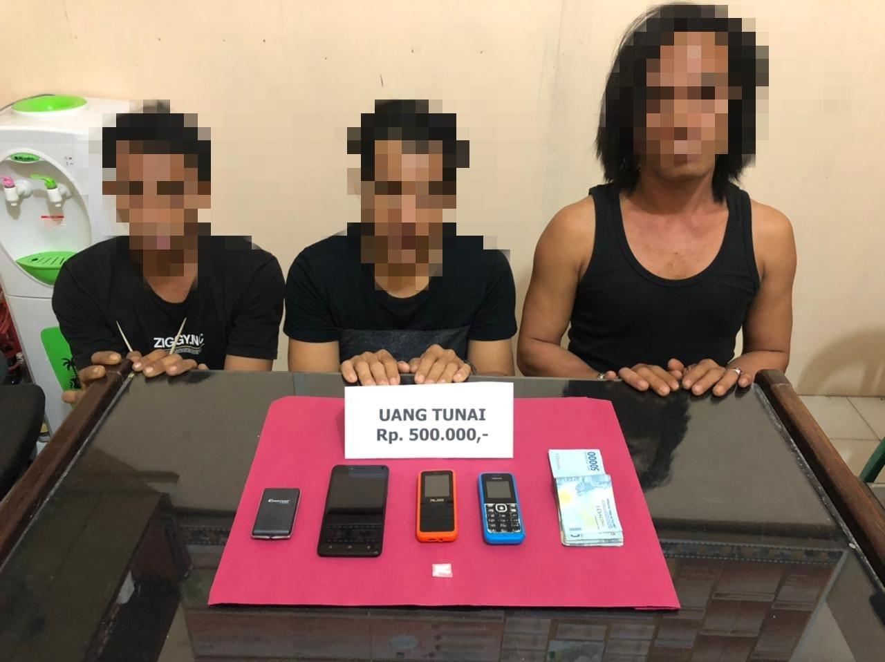 Tiga Pelaku Narkoba Diringkus, Satu Masih Masih DPO
