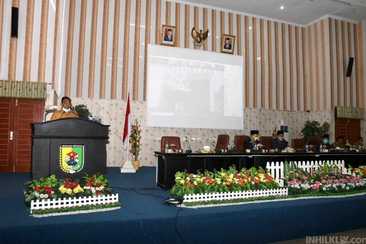 Bupati dan Wabup Hadiri Rapat Paripurna dengan DPRD Sergai