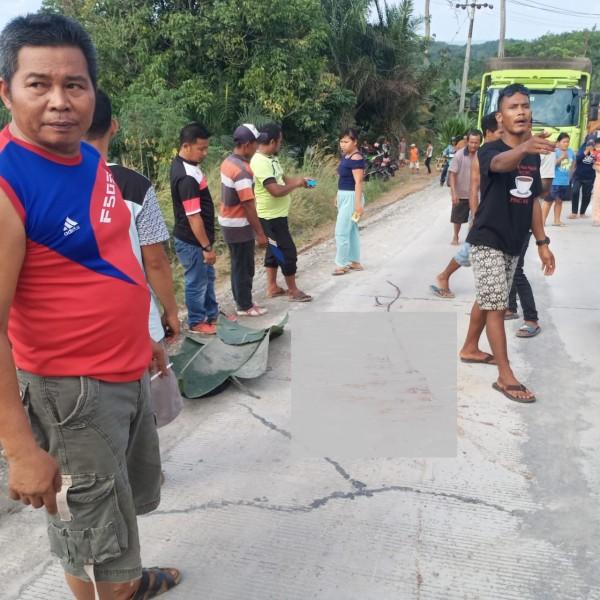 Bocah 5 Tahun di Inhu Ini Tewas Digilas Dump Truck