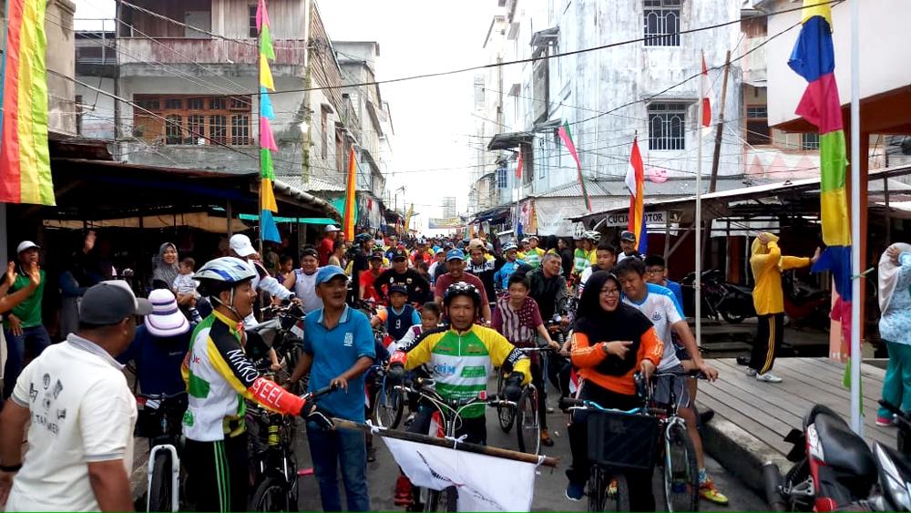Sangat Meriah, 500 Peserta Ikuti Fun Bike yang Digelar Komunitas Kuala Enok Gowes