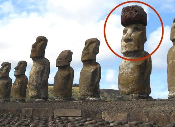 Ilmuan Pecahkan Misteri Topi di Patung Pulau Paskah
