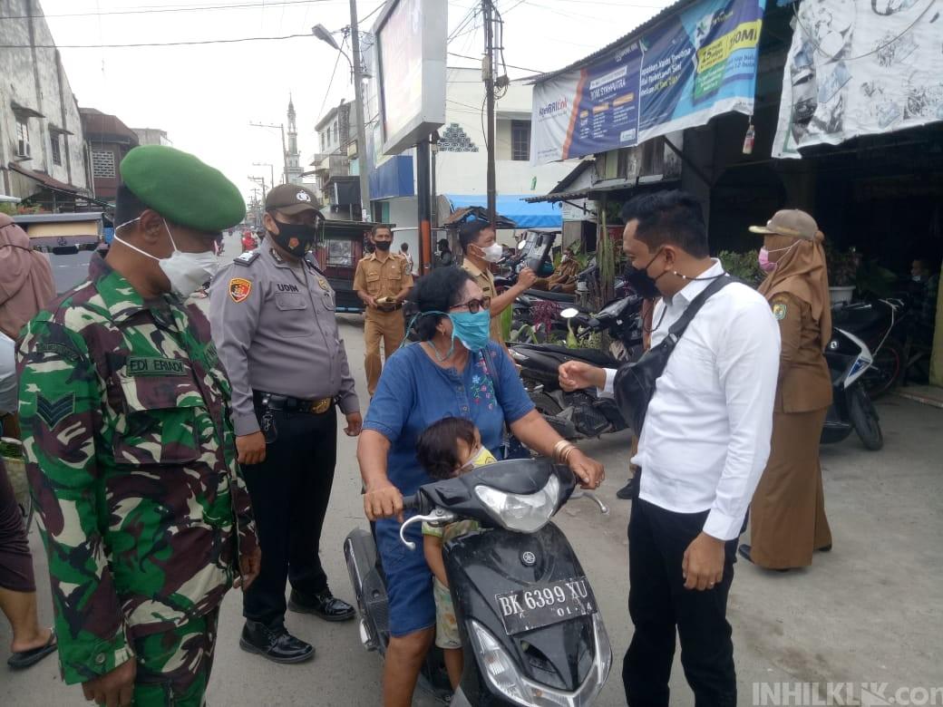 Team Gempur Polsek Tanjung Beringin Sosialisasikan Penerapan Prokes dan PPKM Level 3