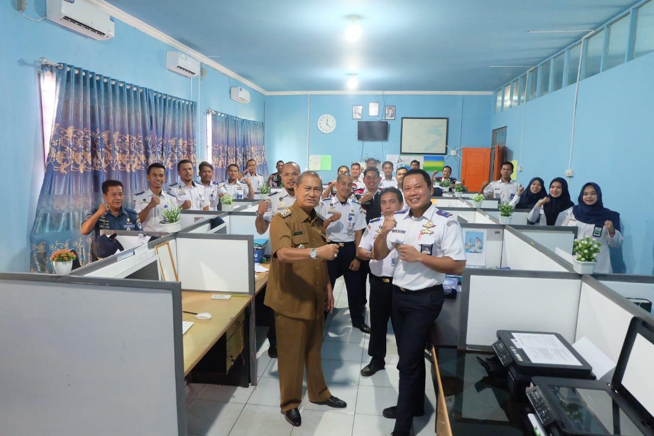 Kunjungan Mendadak, Wakil Bupati Inhil Dan Kepala KSOP Tembilahan Bincangkan Rencana Induk Pengembangan Pelabuhan