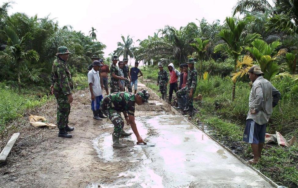 Program TMMD Kodim 0314 Inhil Menyentuh Infrastruktur Kehidupan Rakyat