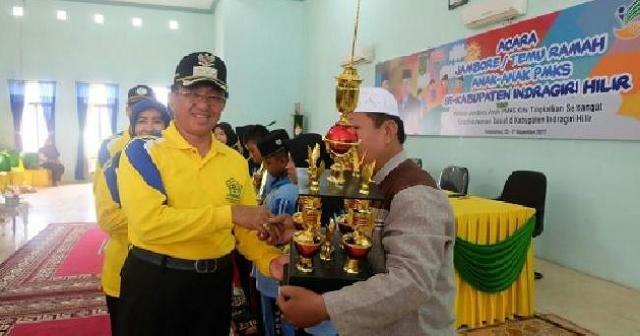 Bupati Wardan Tutup Jambore Temu Ramah Anak-anak PMKS se-Kabupaten Inhil