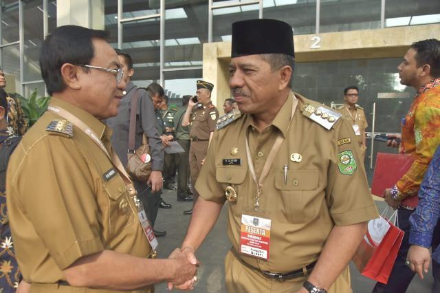 Bupati HM.Wardan Ikuti Rakoornas Forkopimda Se-Indonesia