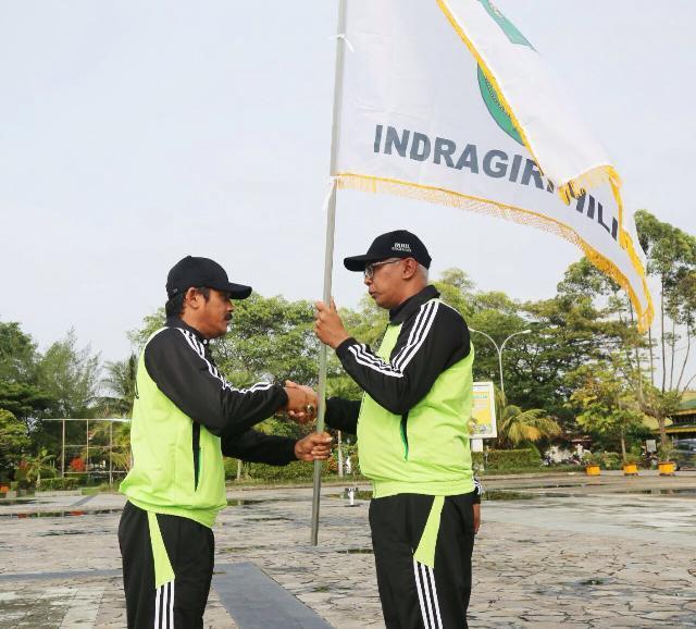 Pj Bupati Inhil Rudyanto Lepas Kontingen POPDA XIV Riau 2018