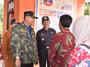 Bupati dan Wabup Pantau Pilkades Serentak Tahun 2019 di Inhil