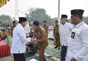 Serentak di 20 Kecamatan, Pemkab Inhil Laksanakan Salat Istisqa