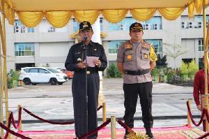 Bupati Inhil Jadi Inspektur Apel Bersama dan Halal Bi Halal Pasca Pemilu 2019