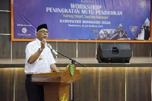 Pj Bupati Inhil Rudyanto Buka Workshop Peningkatan Mutu Pendidikan
