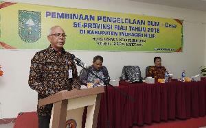 Pj Bupati Inhil Rudyanto Hadiri Pembukaan Pelatihan Pengelolaan BUMDes se-Riau