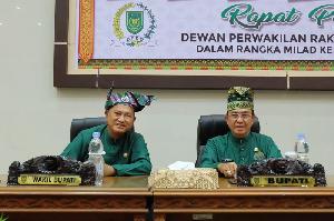Milad Inhil ke-54, Bupati dan Wabup Hadiri Rapat Paripurna Istimewa di Gedung DPRD>