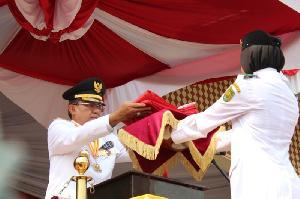 Upacara Bendera HUT RI ke-74 di Inhil Berlangsung Khidmat